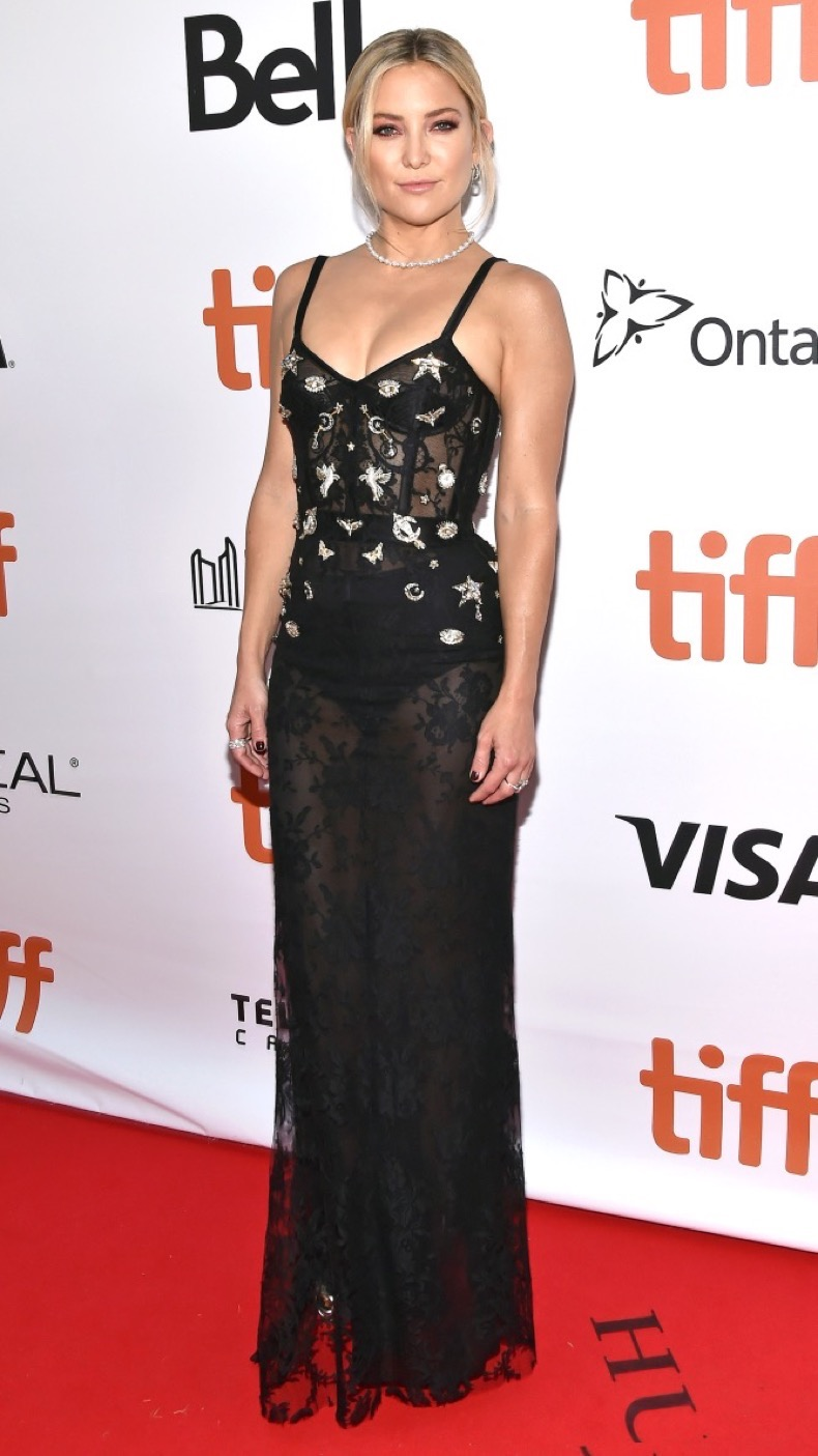 "Actress Kate Hudson attends the ""Deepwater Horizon"" Premiere during the 2016 Toronto International Film Festival at Roy Thomson Hall, in Toronto, Canada, on September 13, 2016. (Photo by Anthony Behar) *** Please Use Credit from Credit Field ***"