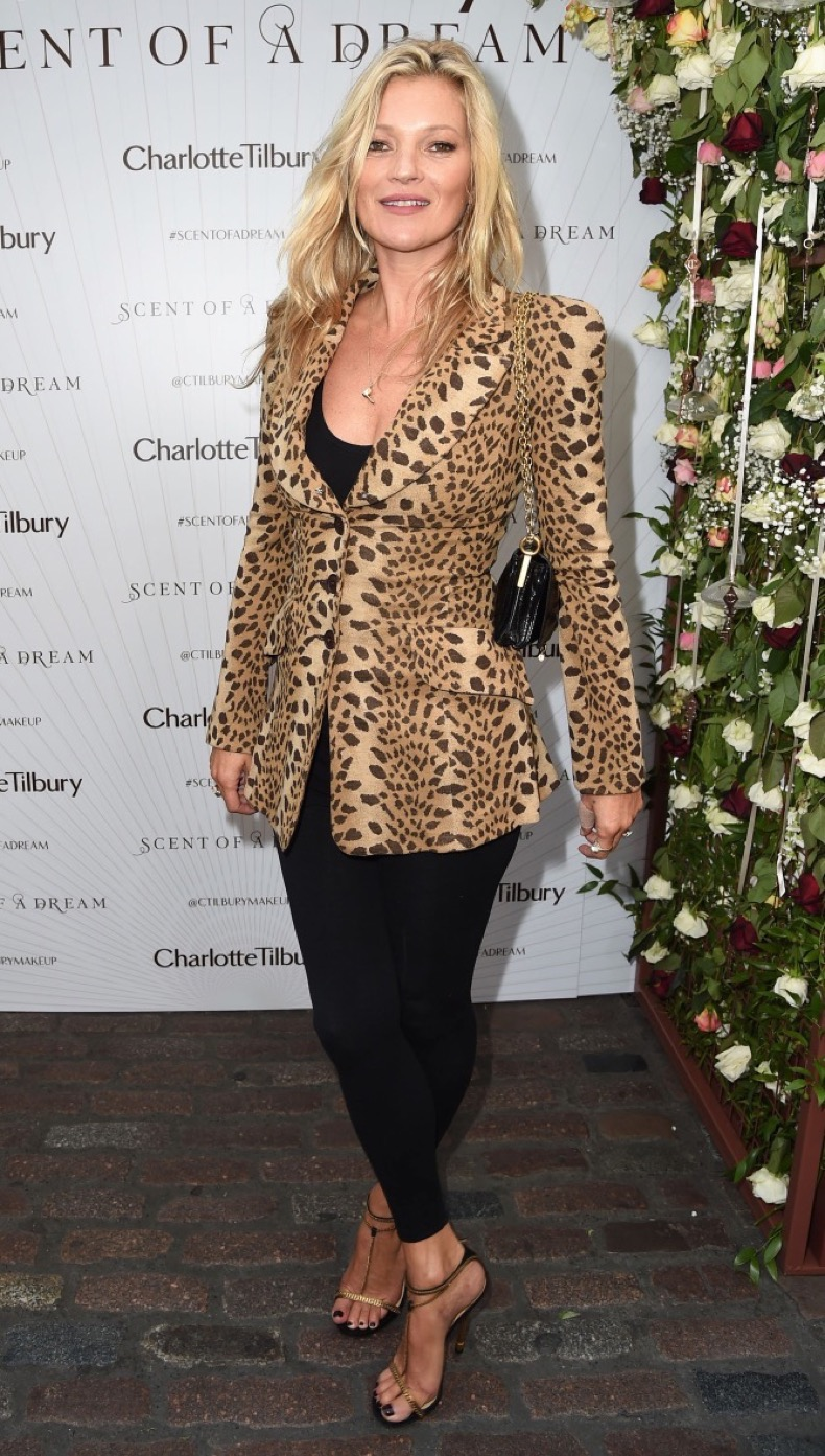 Mandatory Credit: Photo by Richard Young/REX/Shutterstock (5897917d) Kate Moss Charlotte Tilbury 'Scent of a Dream' fragrance launch, Spring Summer 2017, London Fashion Week, UK - 15 Sep 2016
