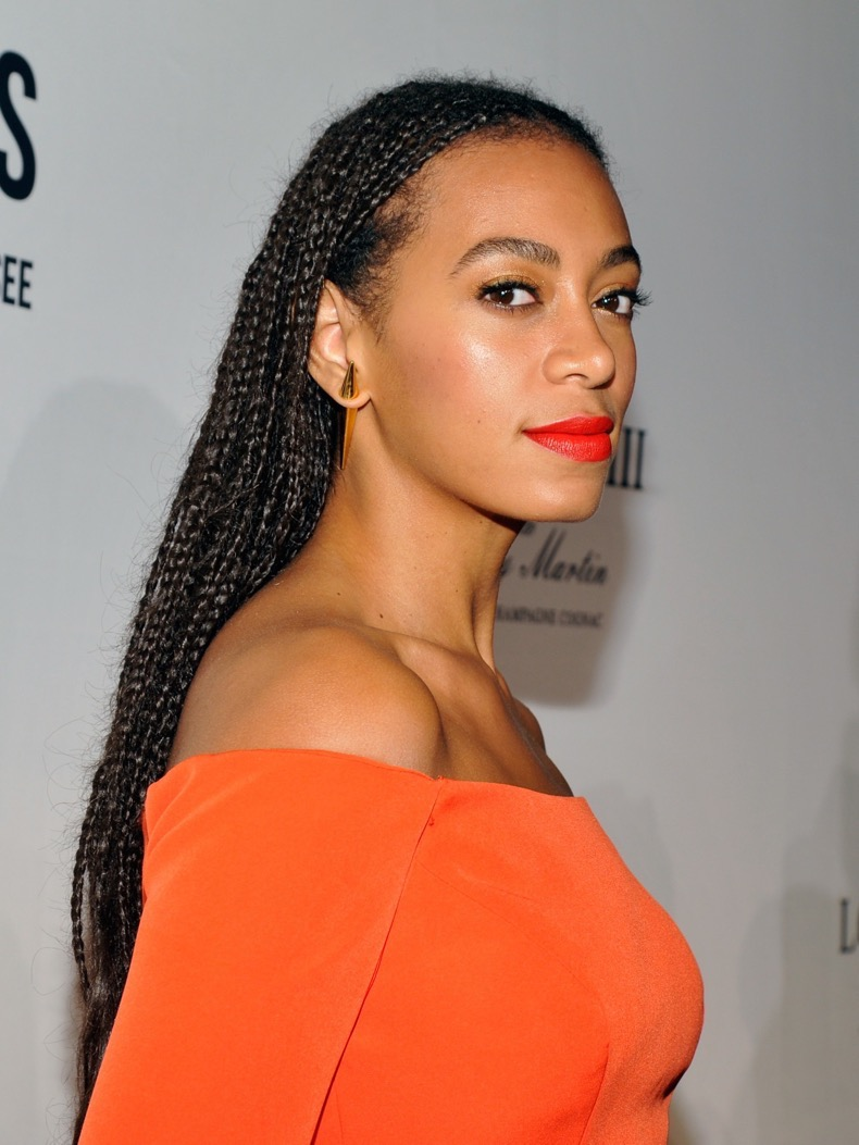 "BEVERLY HILLS, CA - NOVEMBER 18:  Singer Solange Knowles attends Louis XIII Celebration of ""100 Years"" The Movie You Will Never See, starring John Malkovich at a private residence on November 18, 2015 in Beverly Hills, California.  (Photo by John Sciulli/Getty Images for Louis XIII)"