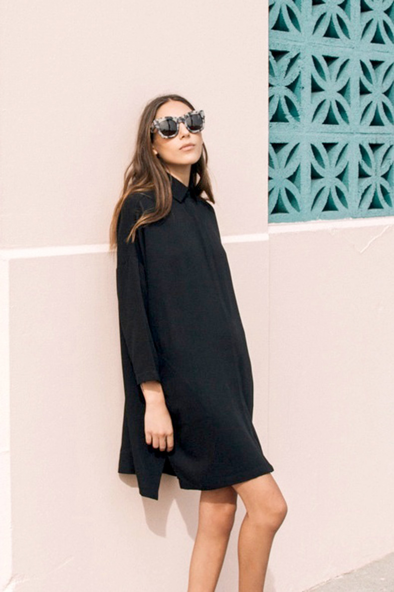 fall-outfit-fall-work-outfit-sunglases-fall-blakc-shirt-dress-shirtdress-lbd-simple-via-le-fashion