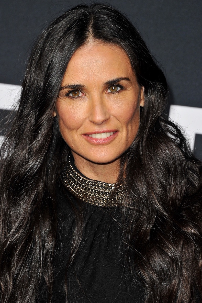 LOS ANGELES, CA - FEBRUARY 10:  Actress Demi Moore attends SAINT LAURENT At The Palladium at Hollywood Palladium on February 10, 2016 in Los Angeles, California.  (Photo by Allen Berezovsky/Getty Images)