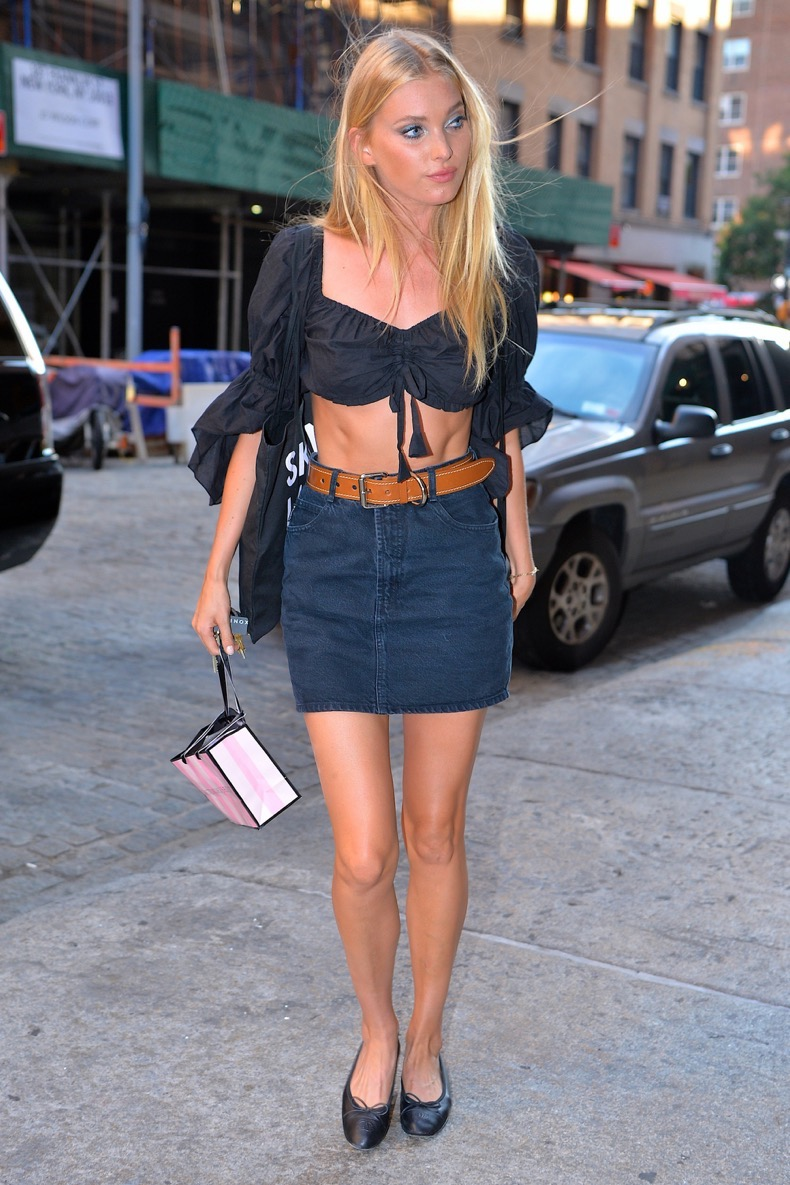 NEW YORK, NY - JULY 26:  Elsa Hosk seen out in Manhattan on July 26, 2016 in New York City.  (Photo by Robert Kamau/GC Images)