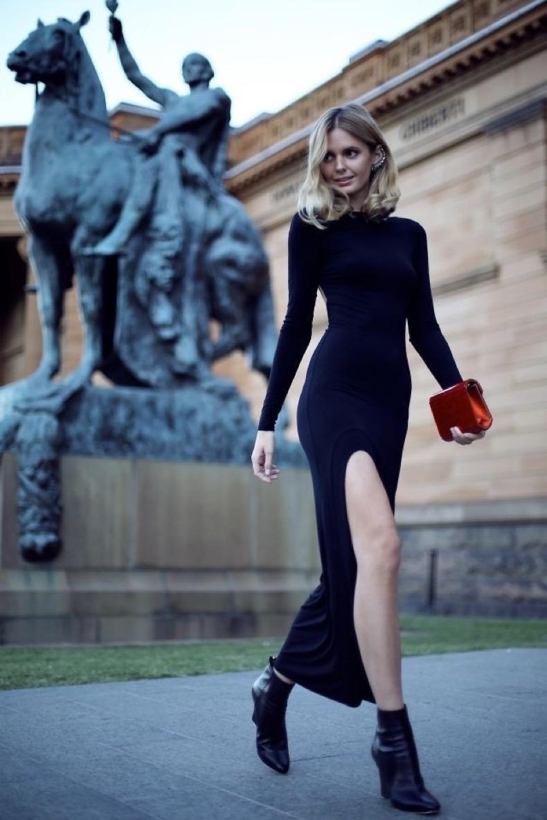 long-black-dress-street-style