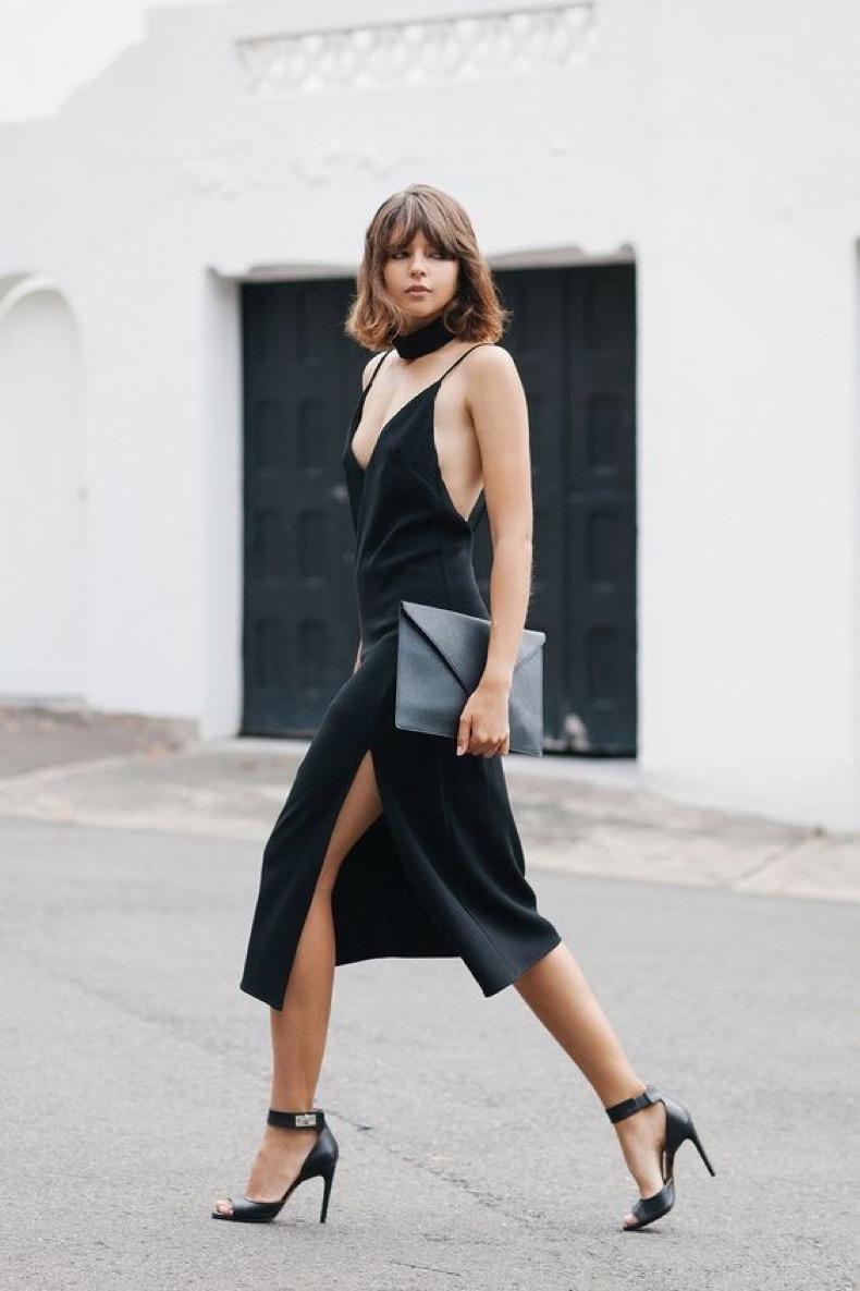 minimal5-lbd-black-slip-dress-black-sandals-skinny-scarf-streetstyle-how-to-wear-slip-dress-trend-2016