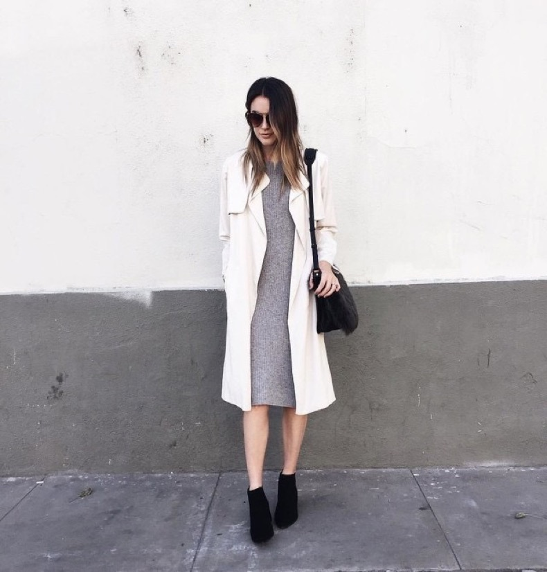 trench-coat-duster-coat-black-booties-grey-sweater-dress-midi-dress-fall-neutrals-fall-work-outfit-via-thriftsandthreads-instagram-640x669