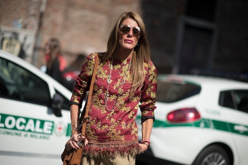 MILAN, ITALY - SEPTEMBER 26:  Anna Dello Russo  seen during the Milan Fashion Week  Spring/Summer 16 on September 26, 2015 in Milan, Italy.  (Photo by Timur Emek/Getty Images)