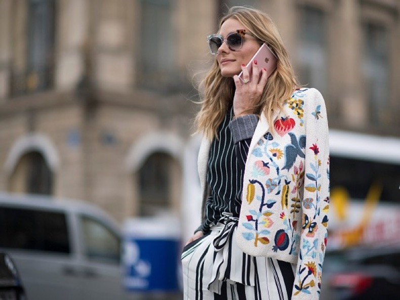 PARIS, FRANCE - JULY 04:  Olivia Palermo seen in the streets of Paris during Haute Couture F/W 2016/2017 on July 4, 2016 in Paris, France.  (Photo by Timur Emek/Getty Images)