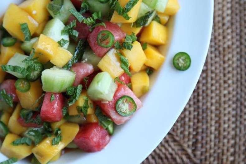 cucumber-watermelon-mango-salad