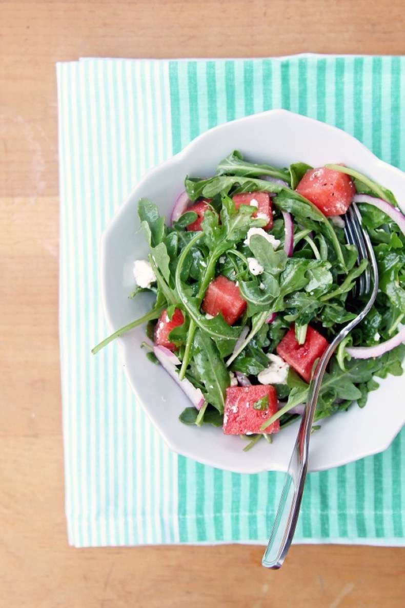 watermelon-feta-arugula-salad