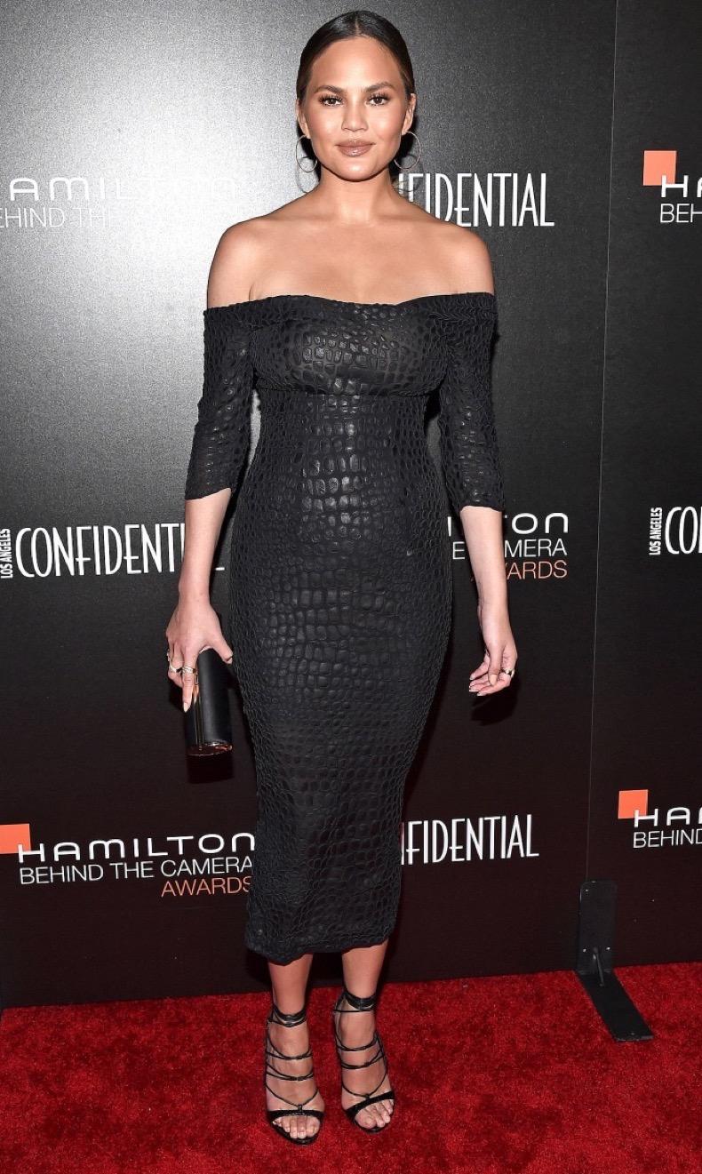 LOS ANGELES, CA - NOVEMBER 06:  Model Chrissy Teigen arrives at the 9th Hamilton Behind The Camera Awards at Exchange LA on November 6, 2016 in Los Angeles, California.  (Photo by Amanda Edwards/WireImage)