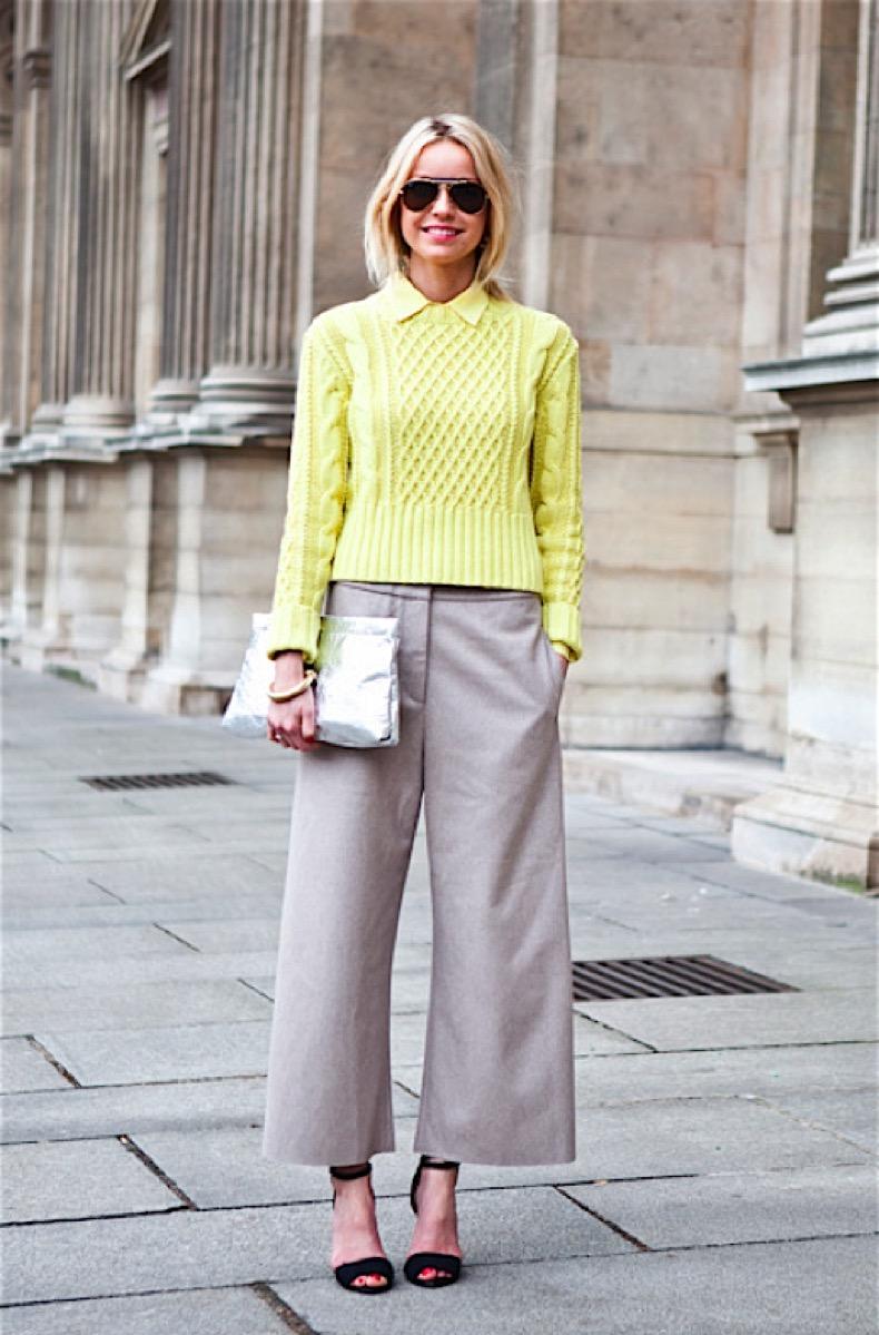 Pantalones Con Corte Arriba Del Tobillo Cut Paste Blog De Moda