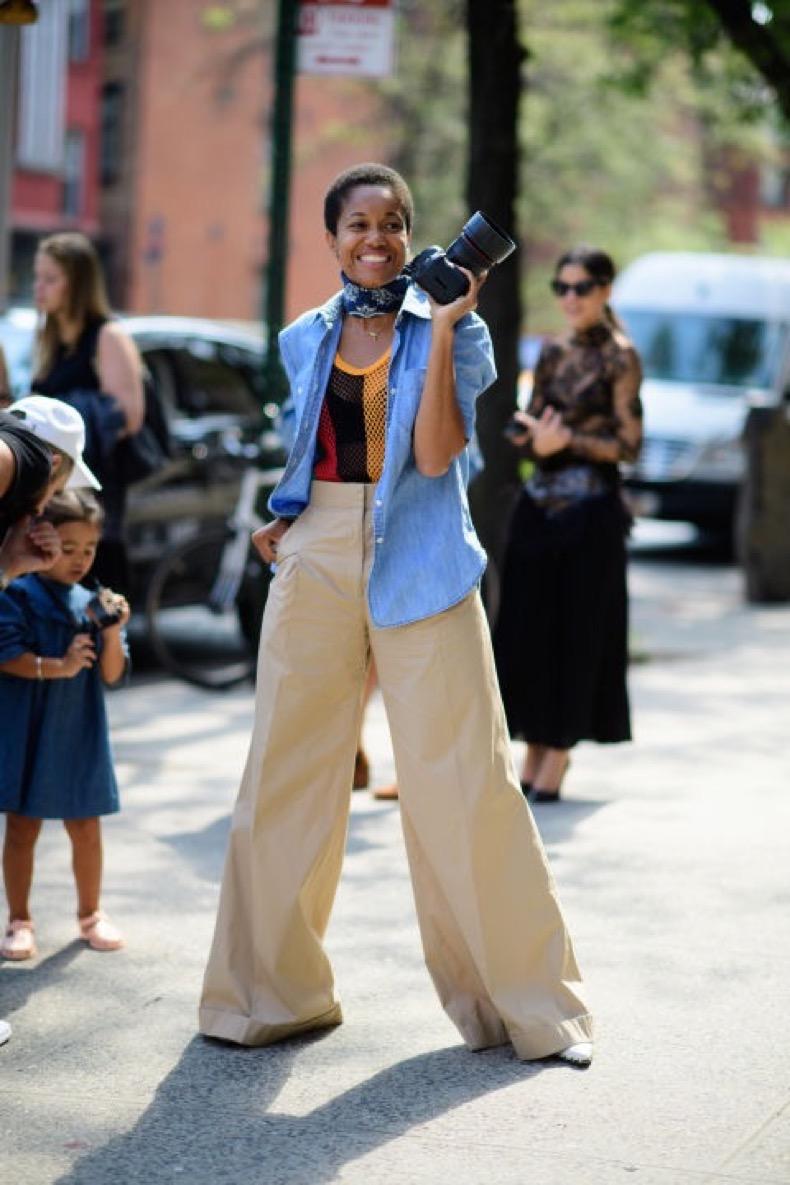 Pantalones Anchos Color Khaki Cut Paste Blog De Moda