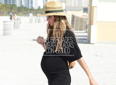 estilo de celebridades embarazadas a la moda / pregnant celebrities fashion style