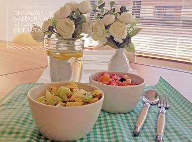 ensalada waldorf y ensalada de frutas