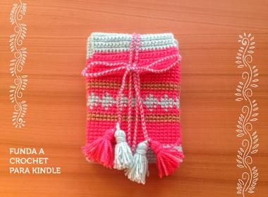 funda a crochet para kindle