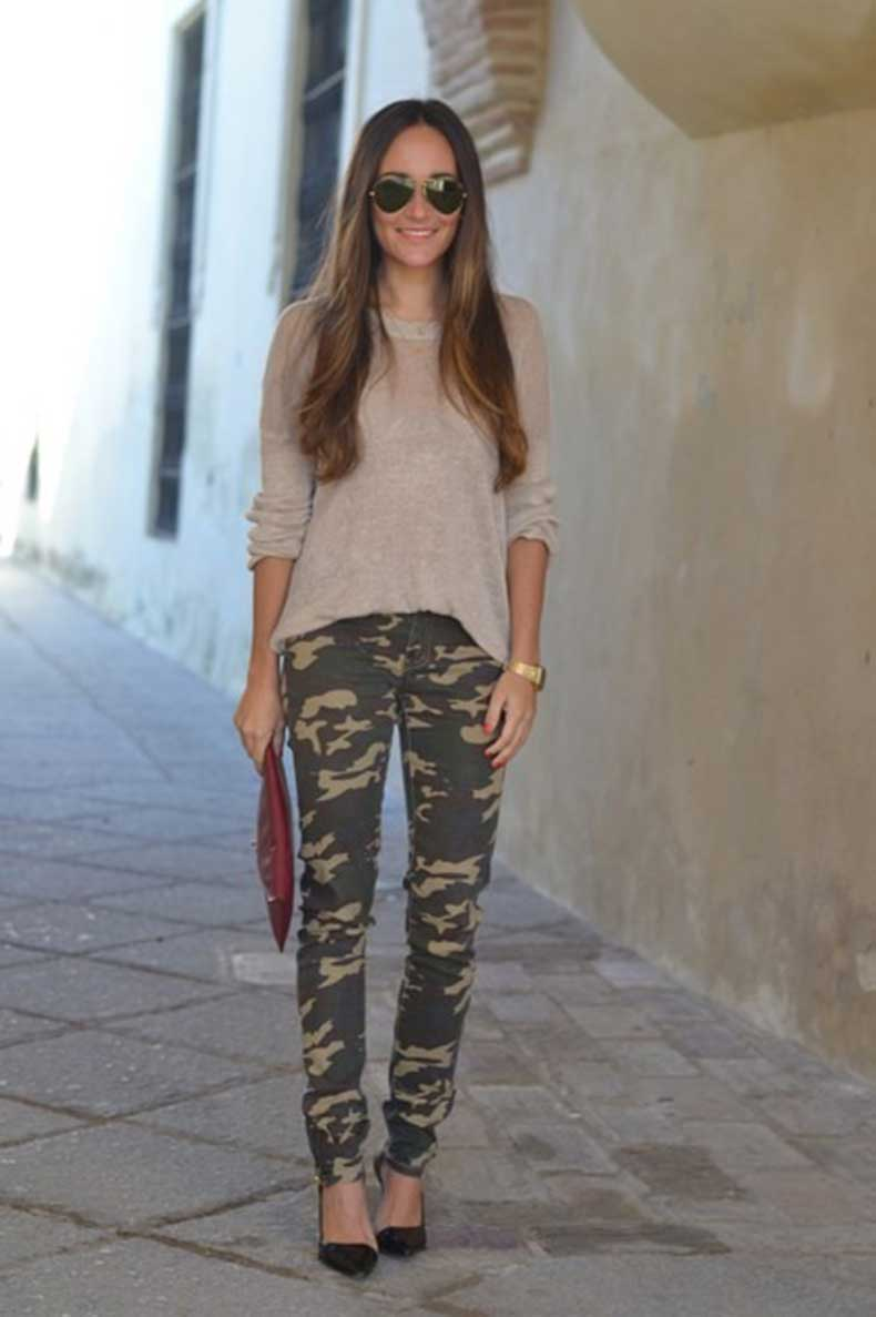 25 Formas Chic De Usar Un Pantalon Militar Cut Paste Blog De Moda