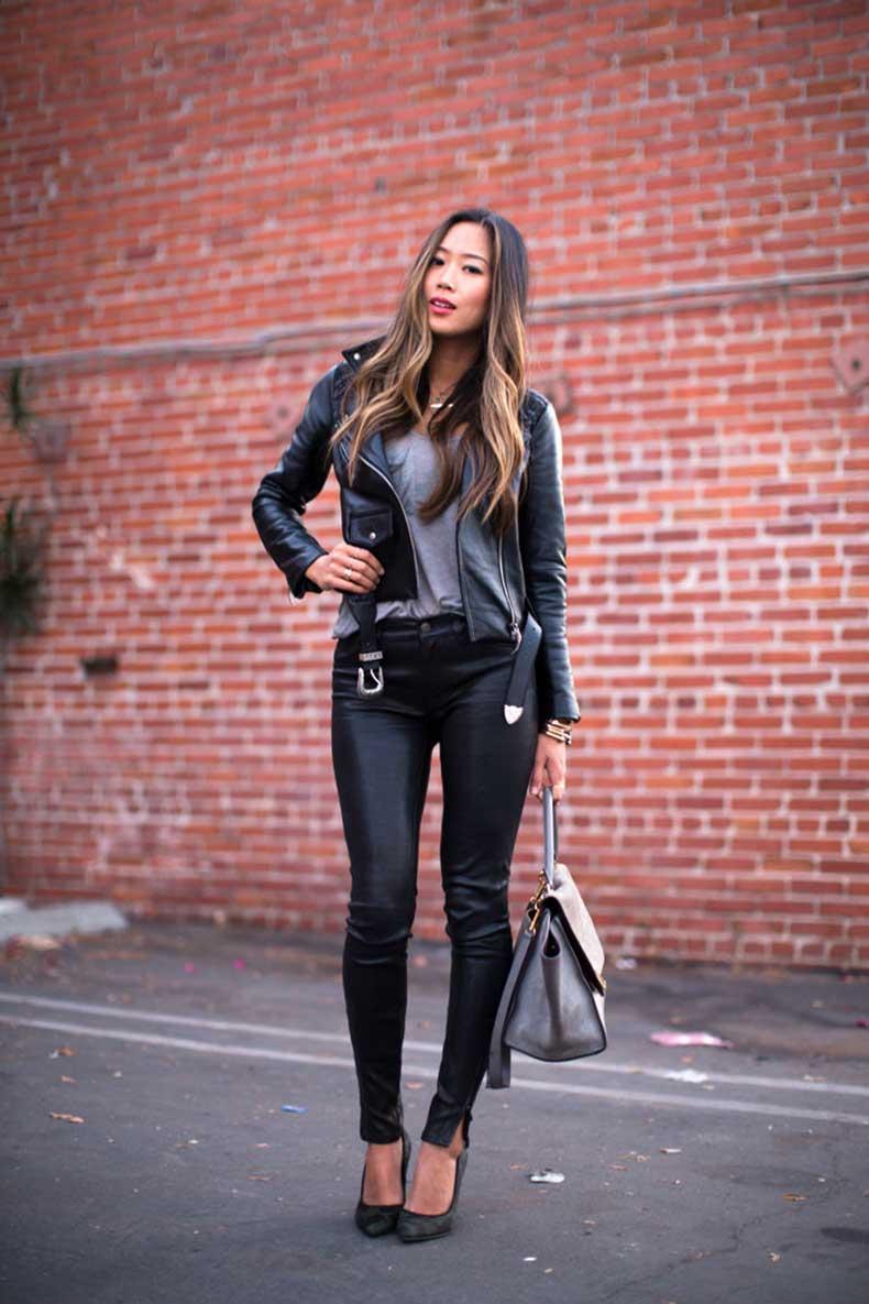 40 Ideas Estilosas Para Usar Tus Pantalones De Cuero Cut Paste Blog De Moda