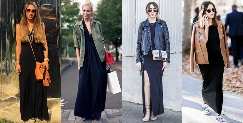 f1559188e77af 45 Ideas Para Usar Un Maxi Vestido Negro