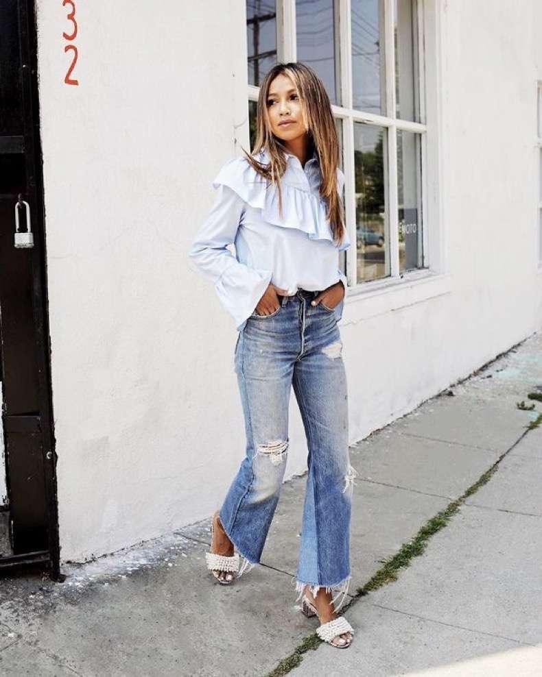 Flared Jeans Cut Paste Blog De Moda